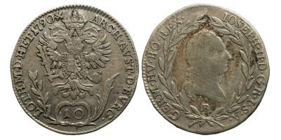 II.József 10 krajcár 1790 B.