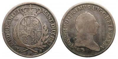 II.József 1/2  scudo 1783 L-B