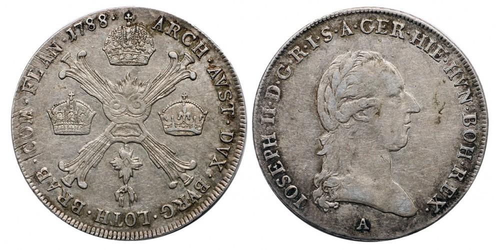 II. József 1/4 Tallér 1788 A