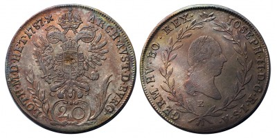 II.József 20 krajcár 1787 E