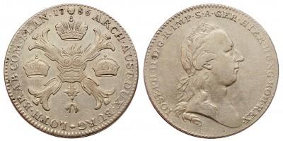 II.József koronatallér 1786