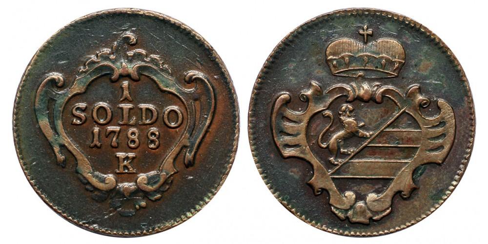 II.József soldo 1788 K