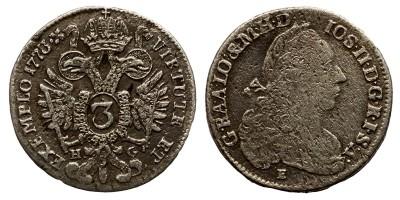 II.József 3 krajcár 1773 H-G/E R!