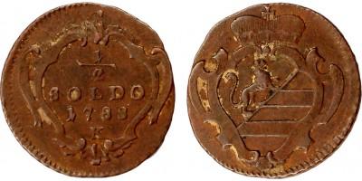 Gorizia II.József 1/2 soldo 1788 K Körmöcbánya