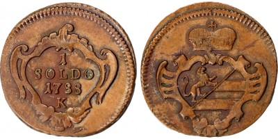 Gorizia II.József  soldo 1788 K Körmöcbánya