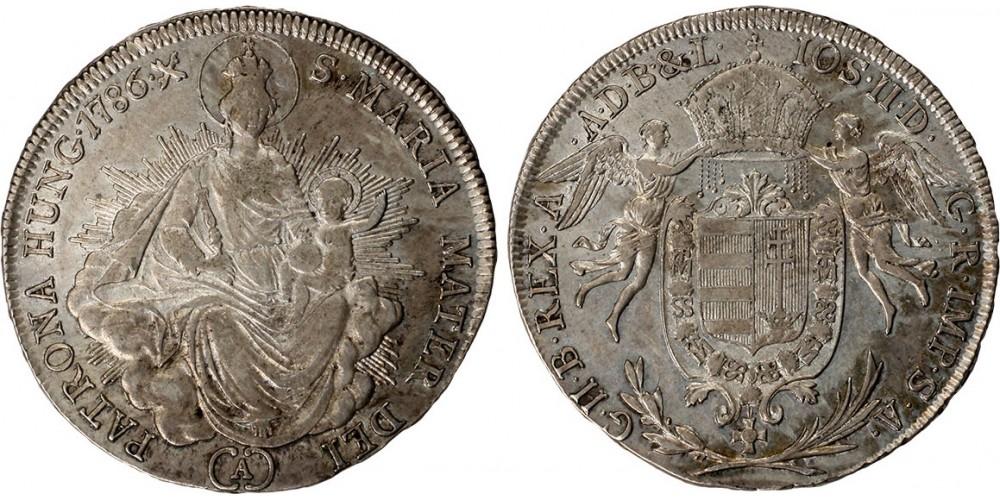II. József 1/2 tallér 1786 A