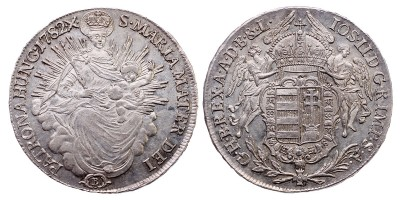 II.József 1/2 tallér 1782 B