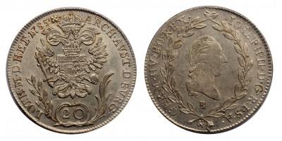 II.József 20 krajcár 1785 B