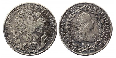 II.József 20 krajcár 1777 S.K.P-D/B