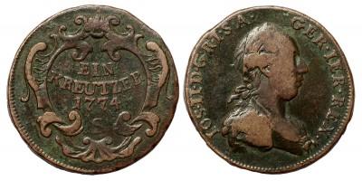 II.József   krajcár 1774 S