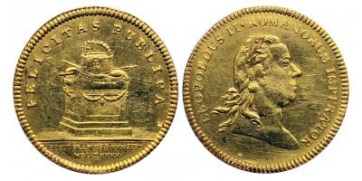 II.Lipót arany dukát Frankfurti koronázás 1790