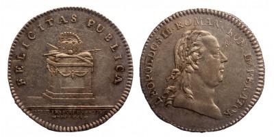 II.Lipót Frankfurti koronázás ezüst zseton 1790