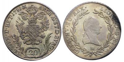 II.Lipót 20 krajcár 1791 B