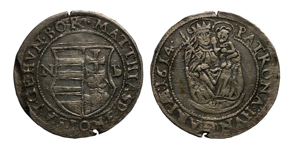 II.Mátyás garas 1614 NB.