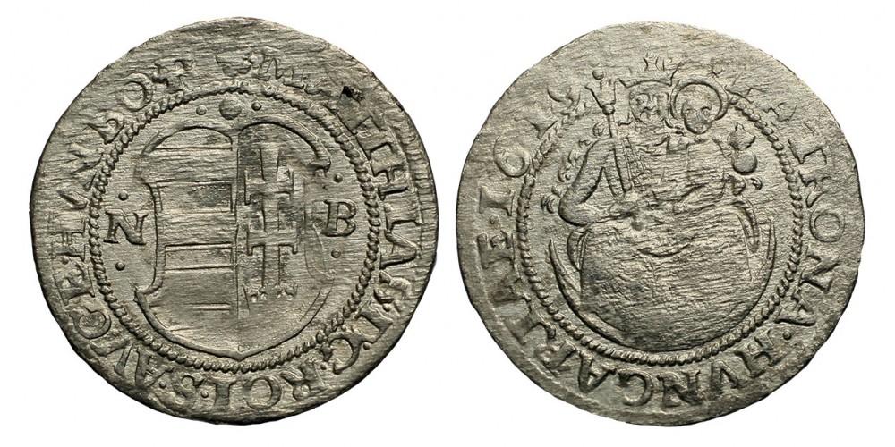 II.Mátyás garas 1619 NB.