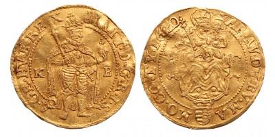 II.Mátyás (1608-1619)  posztumusz dukát 1620 KB RRR!