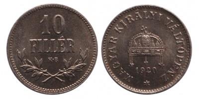 IV.Károly 10 Fillér 1920