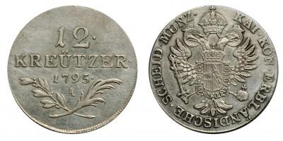 I.Ferenc 12 krajcár 1795 A