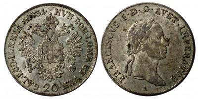 I.Ferenc 20 krajcár 1831