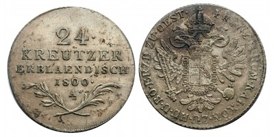 I.Ferenc 24 krajcár 1824 A