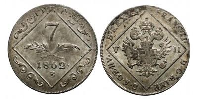 I.Ferenc  7 krajcár 1802 B
