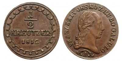 I.Ferenc 1/2 krajcár 1812 A