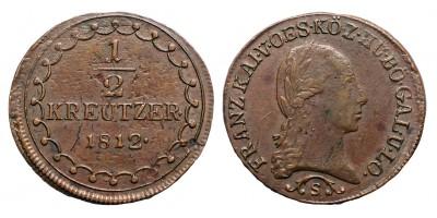 I.Ferenc 1/2 krajcár 1812 S