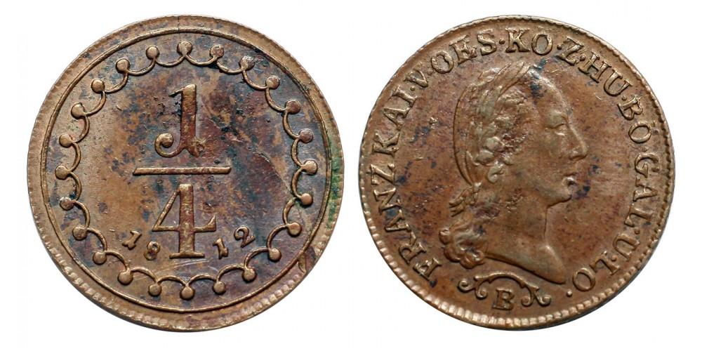 I.Ferenc 1/4 krajcár 1812 B