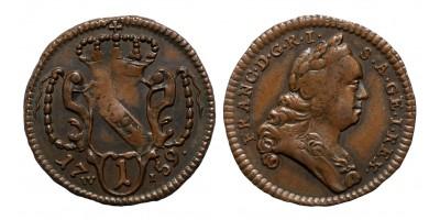 Lotharingiai Ferenc pfennig 1759 W-I