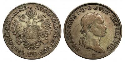 I.Ferenc  20 krajcár 1835 E