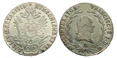 I.Ferenc 20 krajcár 1818 B