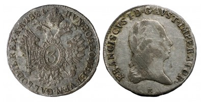 I.Ferenc 3 kracár 1821 E