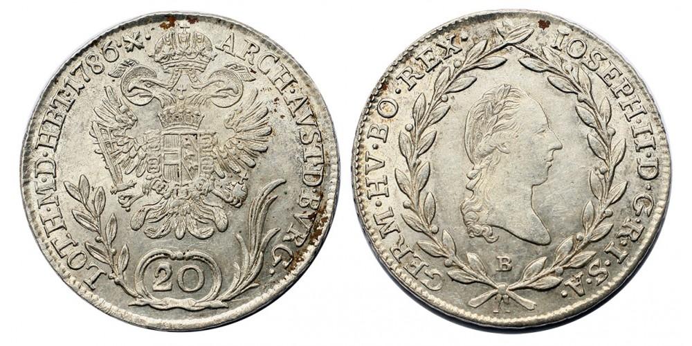 20 krajcár 1786 B