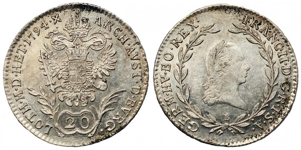 20 krajcár 1794 B