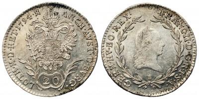 20 krajcár 1794 C
