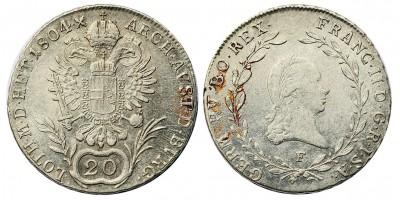 I.Ferenc 20 krajcár 1804 F