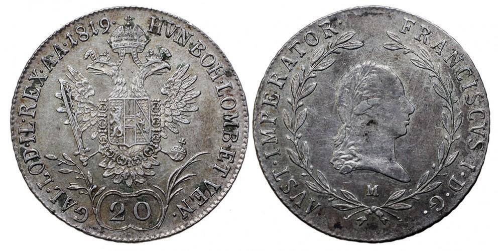 I.Ferenc 20 krajcár 1819 M