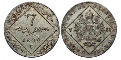 I.Ferenc  7 krajcár 1802 G