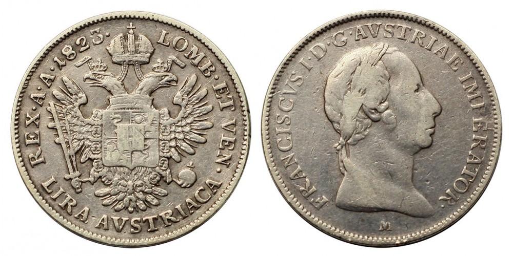 I.Ferenc lira 1823 M