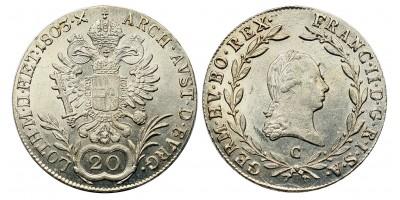 I.Ferenc 20 krajcár 1803 C