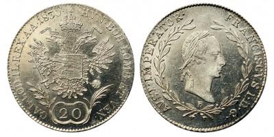 I.Ferenc 20 krajcár 1830 B