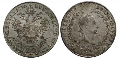 I.Ferenc 20 krajcár 1830 E