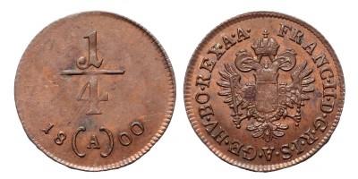 I.Ferenc 1/4 krajcár 1800 A