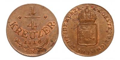 I.Ferenc 1/4 krajcár 1816 S
