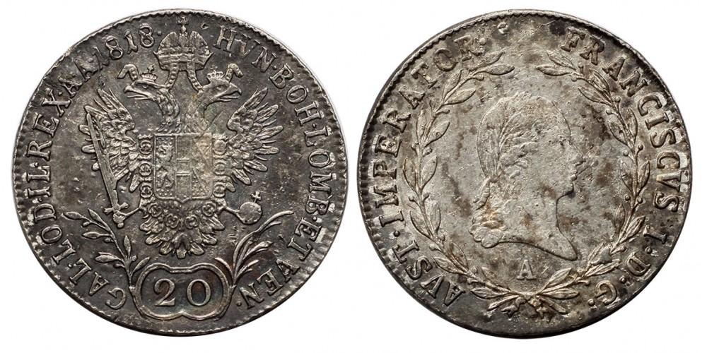 I.Ferenc  20 krajcár 1818 A