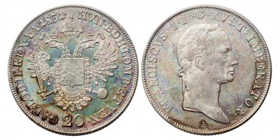 I.Ferenc 20 krajcár 1831 A