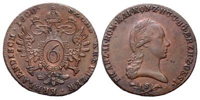 I.Ferenc 6 krajcár 1800 S