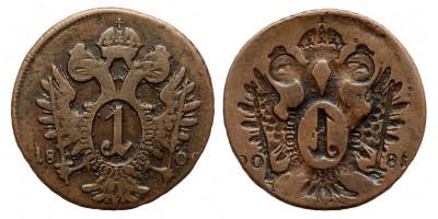 I.Ferenc  krajcár 1800  incuse veret