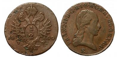 I.Ferenc 1/2 krajcár 1800 E R!