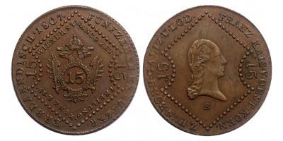 I.Ferenc 15 krajcár 1807 S